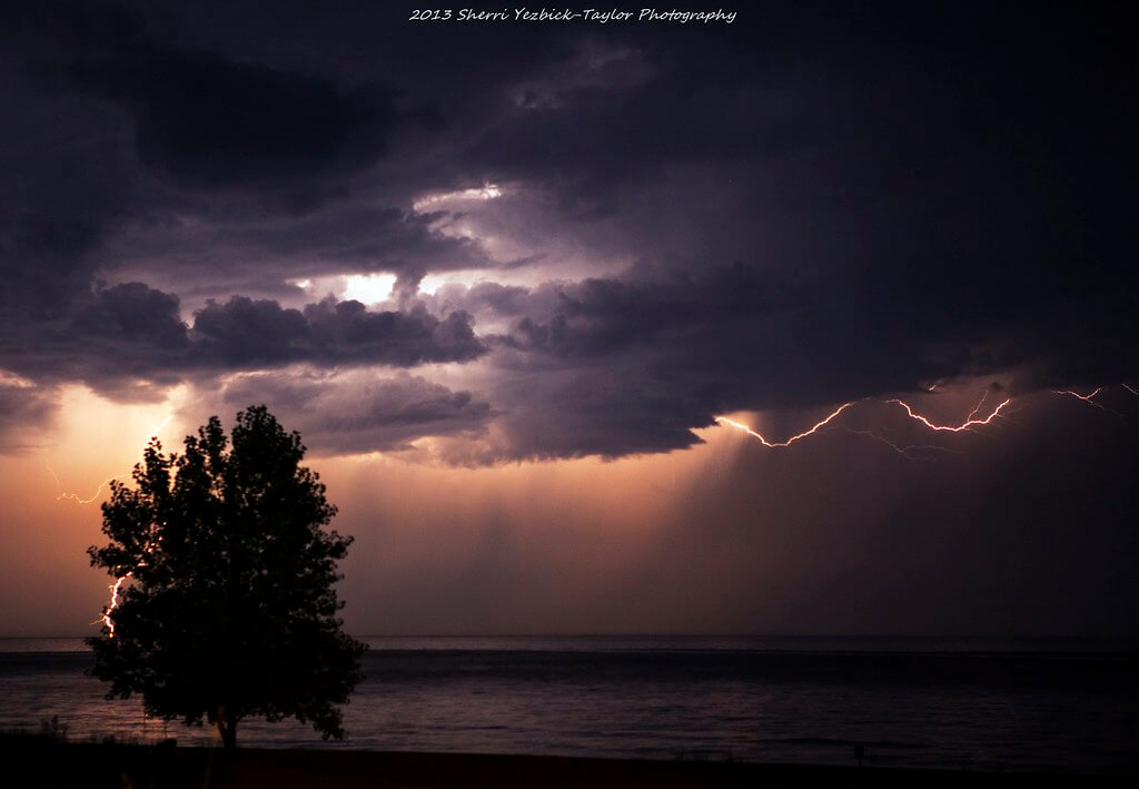 Sherri Yezbick-Taylor - Light Show on Lake Huron