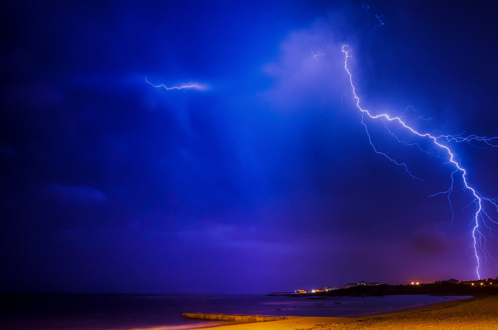 Delyth Angharad - Lightning at Gordon's Bay