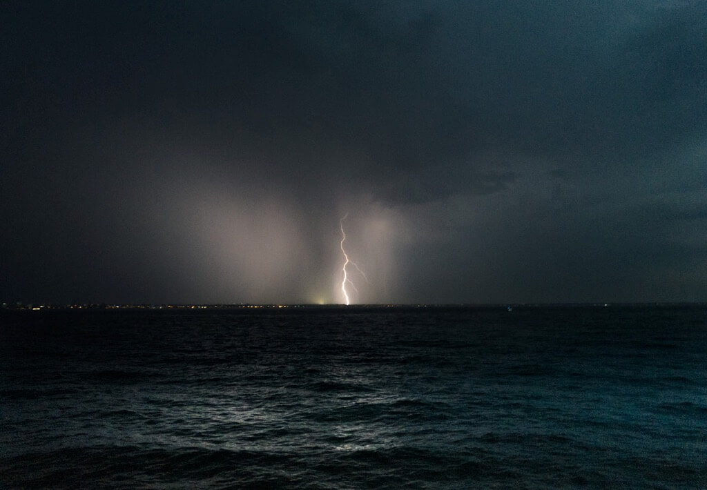 Brett Harrison - Lightning Across Port Phillip Bay in Melbourne