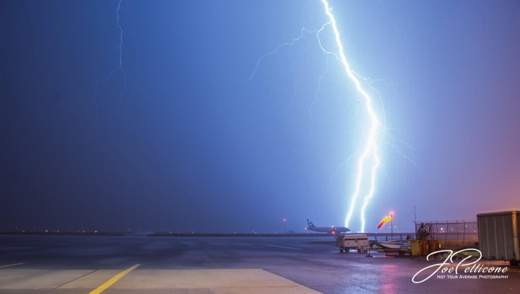 Joe Pellicone - Lightning at JFK Airport