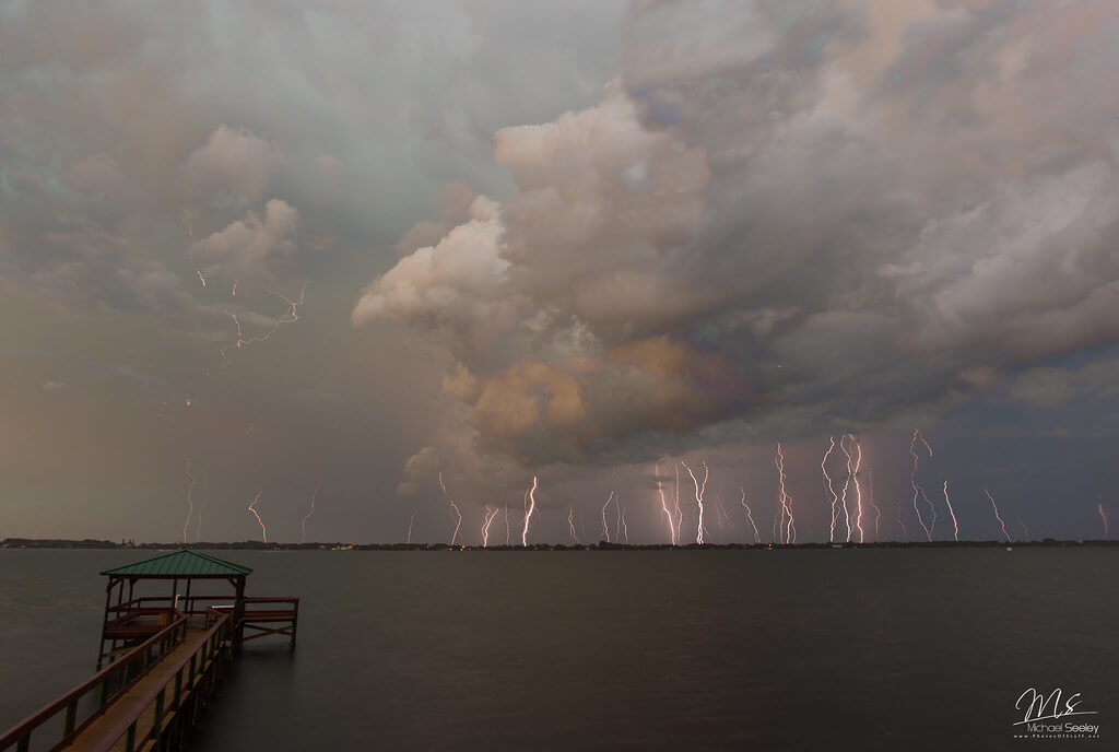Michael Seeley - Lightning pounds Satellite Beach, Florida
