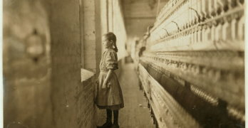 Lewis Wickes Hine - girl spinner looking out window