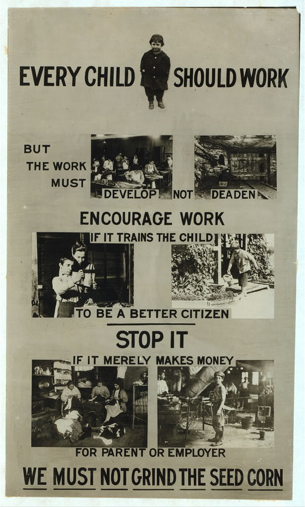 Lewis Wickes Hine - poster against child labor