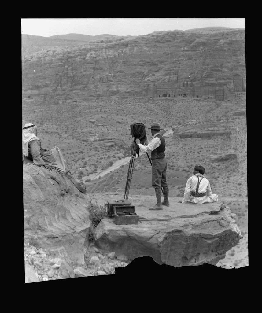 Matson photographing in Petra 1934