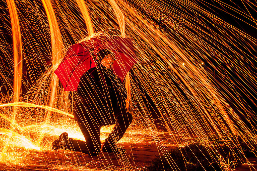 Ralph - steel wool light painting