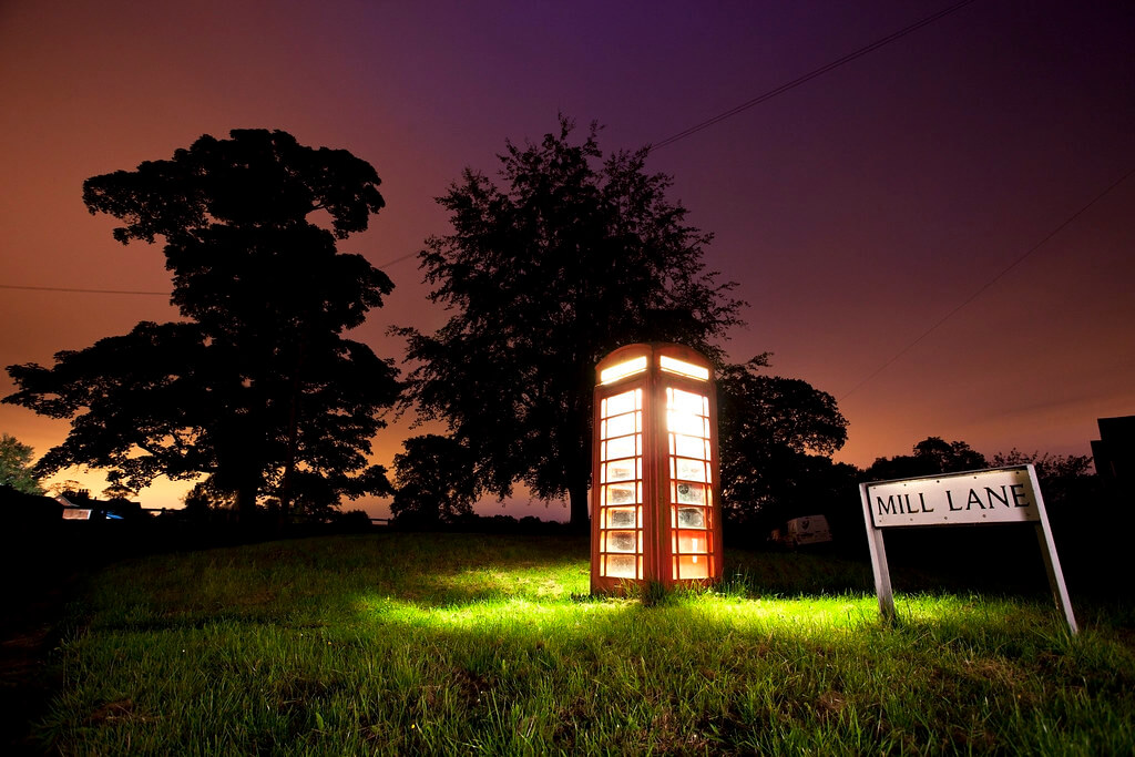 cover of darkness - Glowing Phonebox