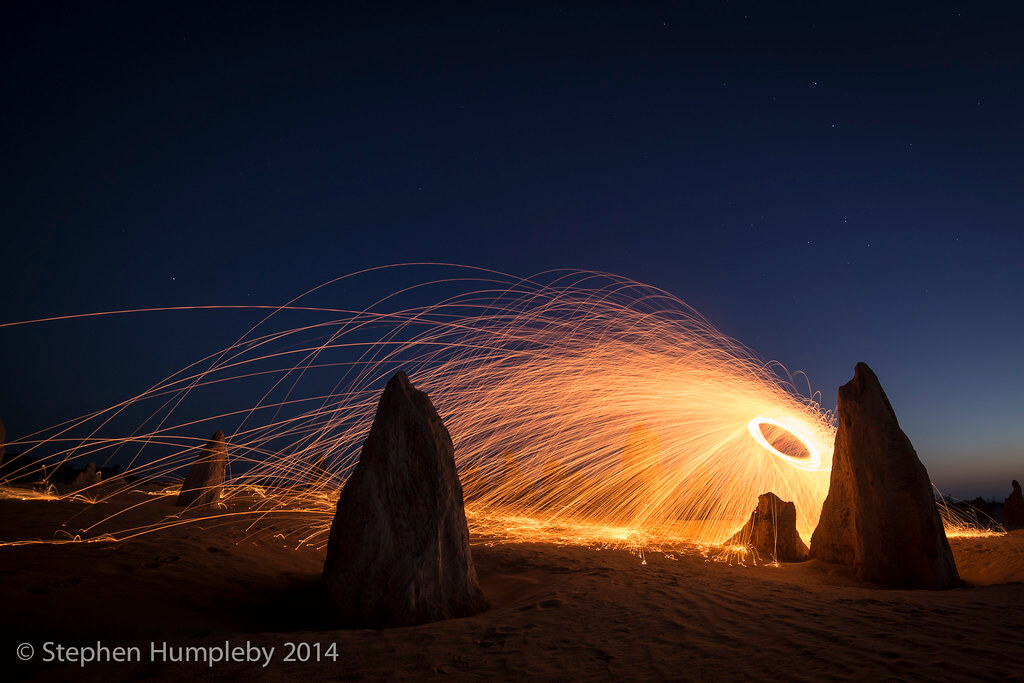 Stephen Humpleby - Wire Wool Light Painting