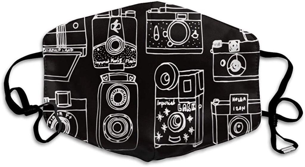 Vintage Cameras Face Mask