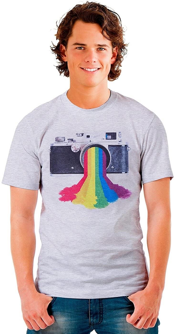 Vintage Rainbow Camera Shirt