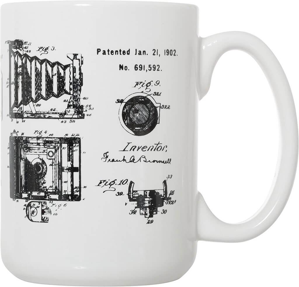 camera patent mug