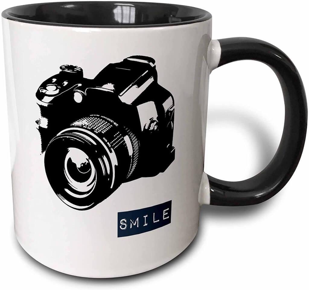 smile camera mug
