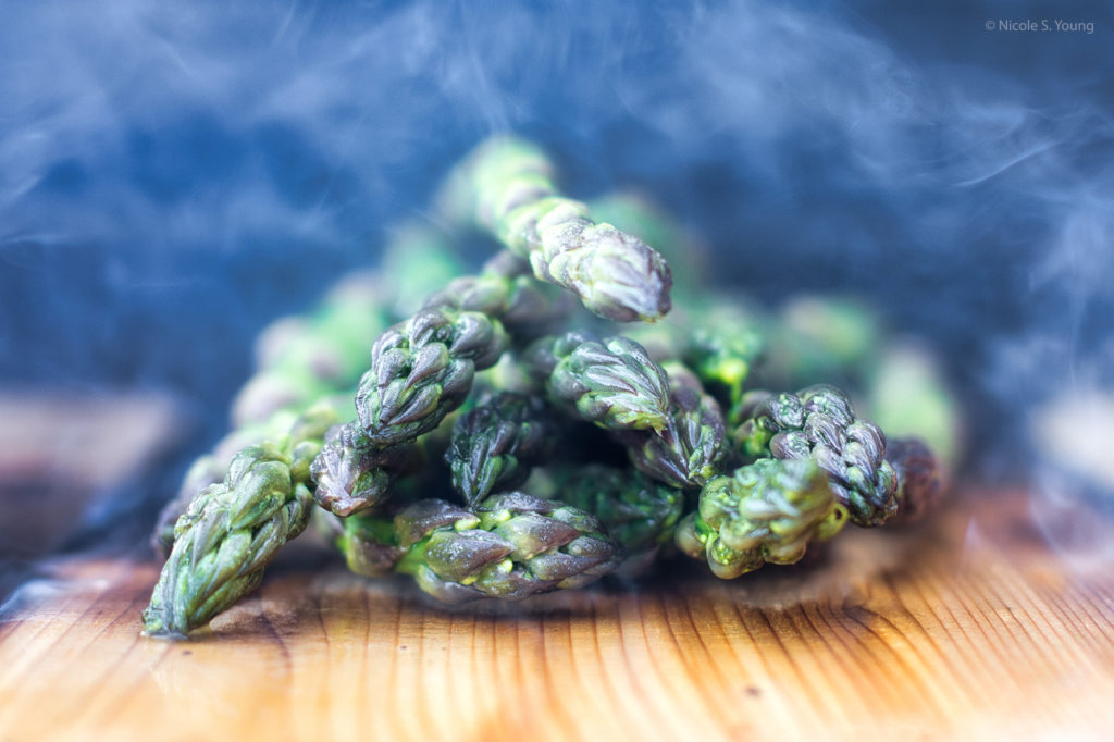 food photography tips for asparagus after