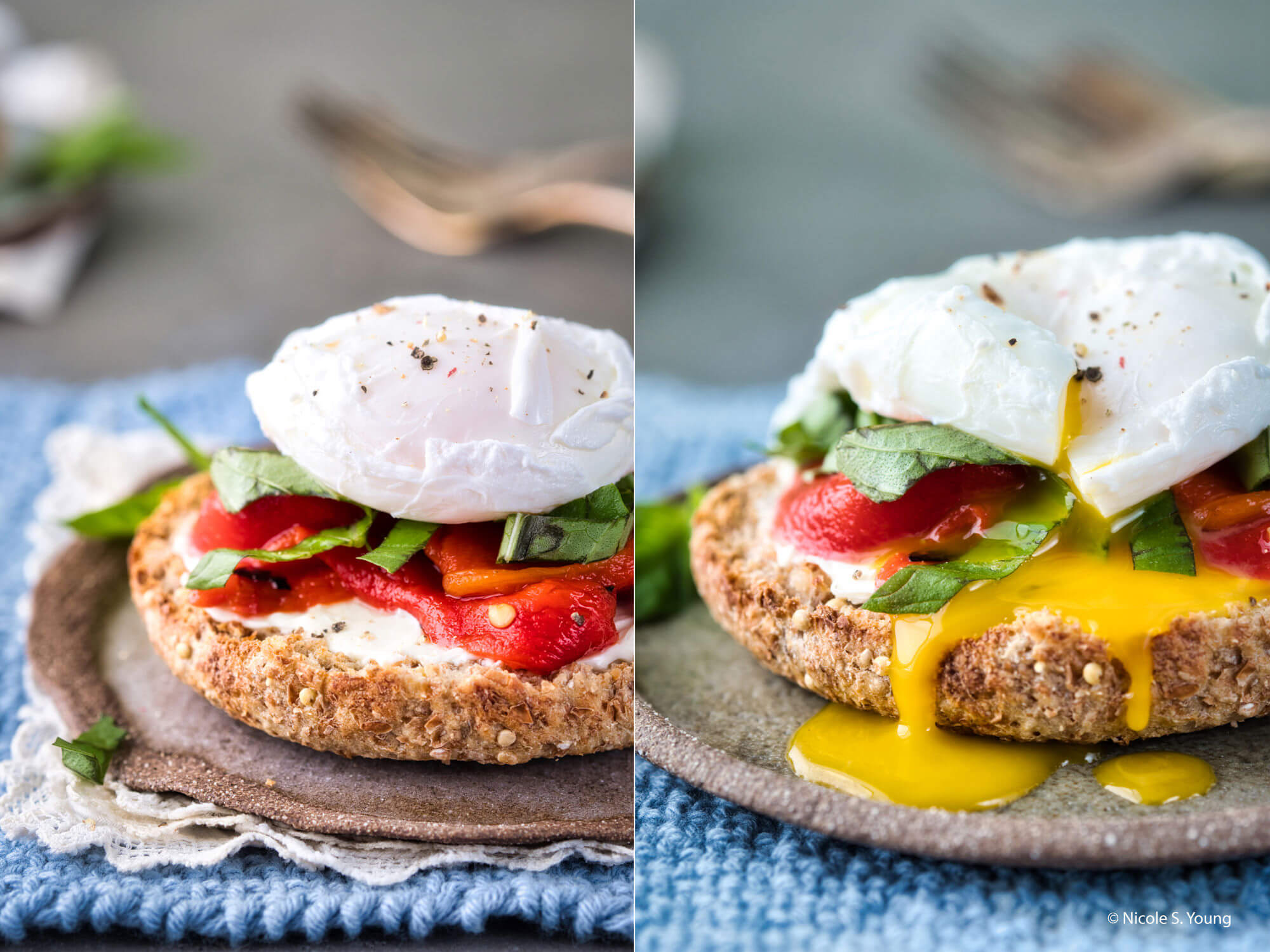 food photography tips closeup on egg sandwich