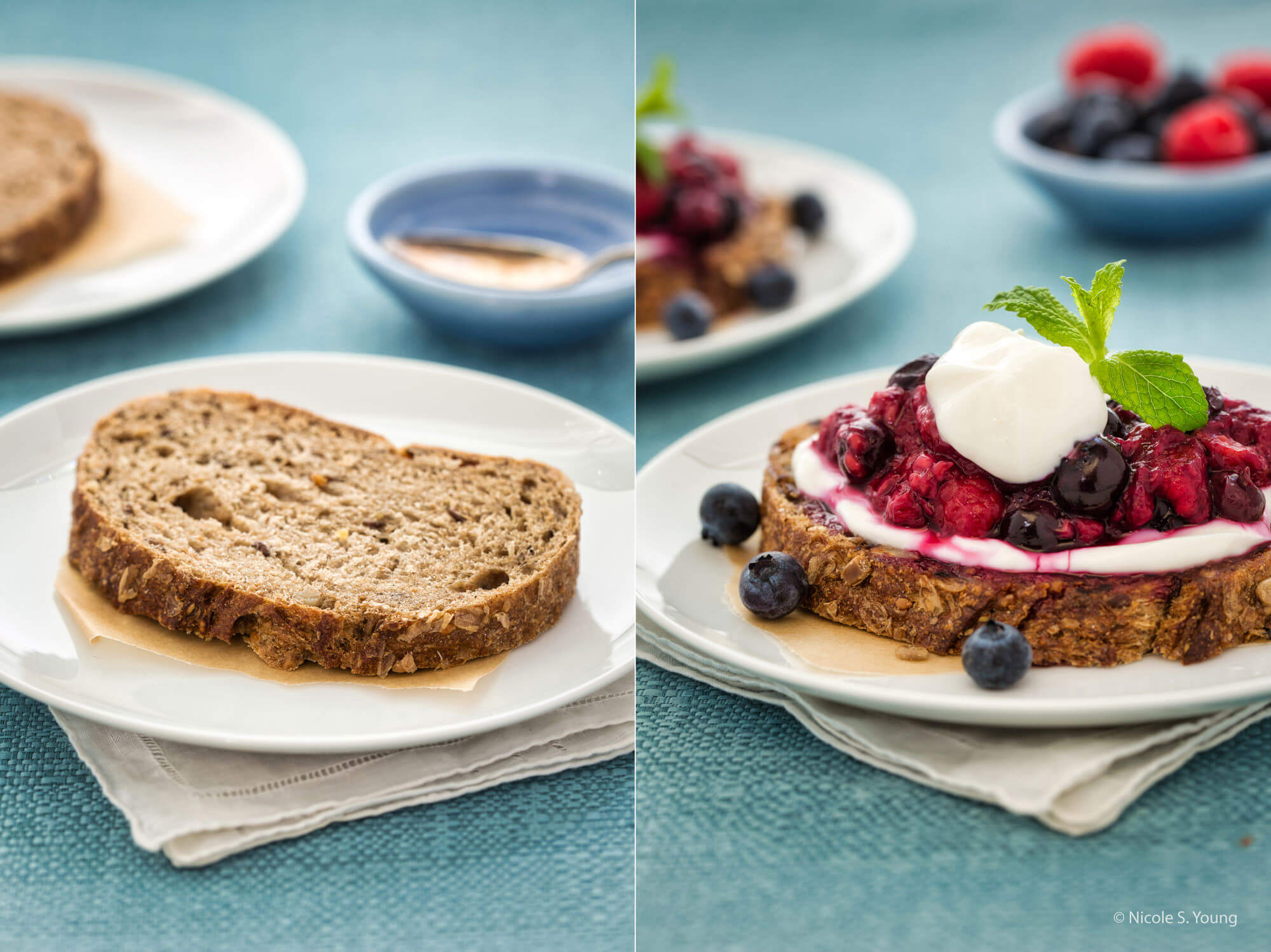 food photography tips for two dishes side by side