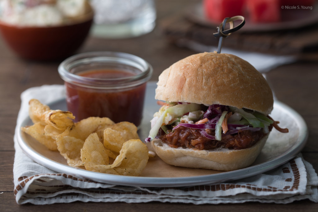 food photography tips for pulled pork sandwiches before