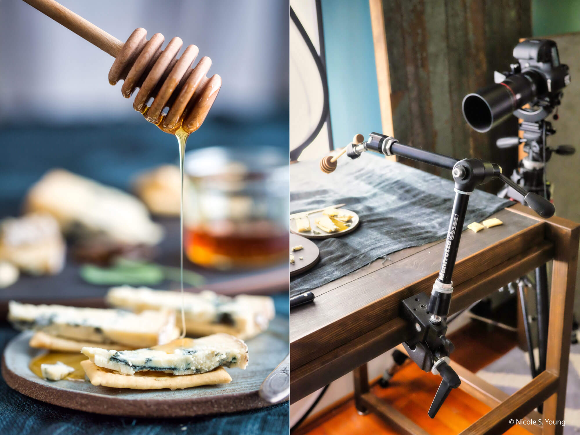 food photography tips for honey with BTS