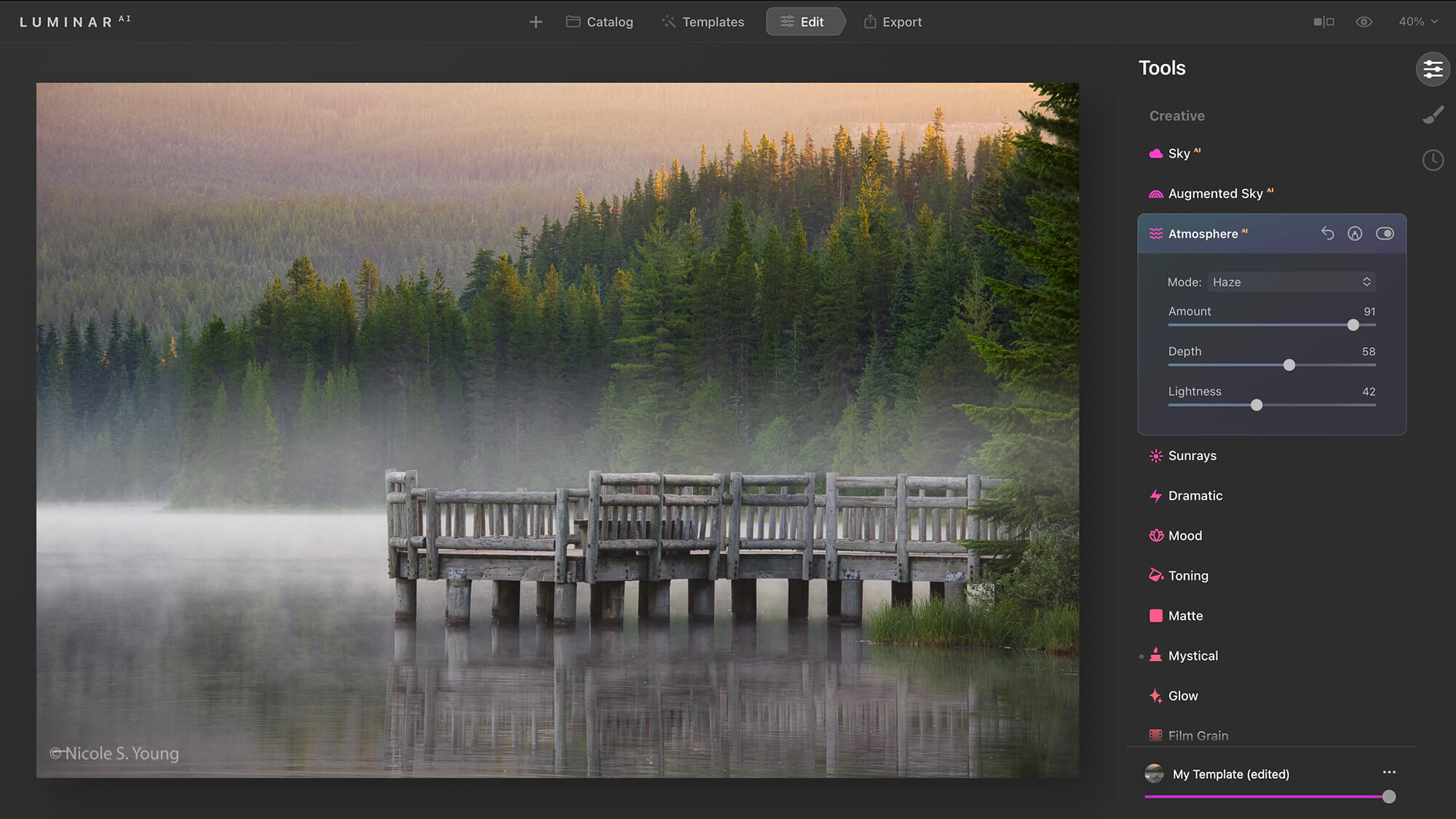 Atmosphere added for creative photo editing tips