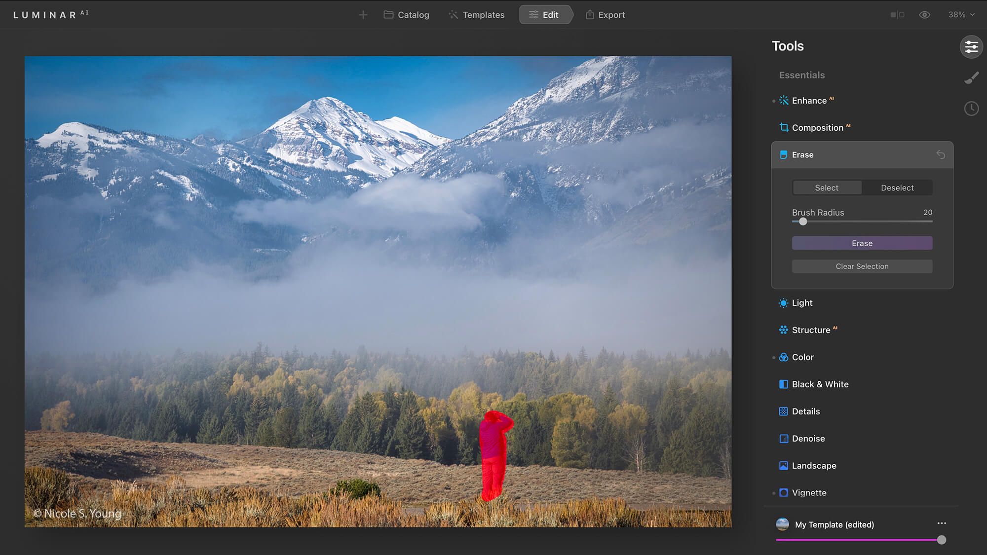 Mountain landscape for quick creative photo editing tips