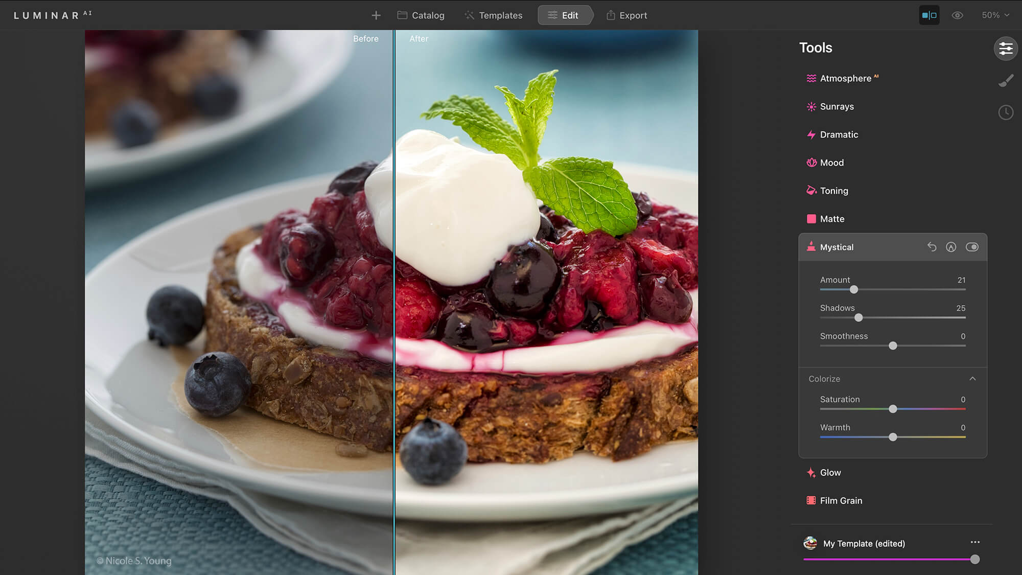 food photography tips for editing with Luminar
