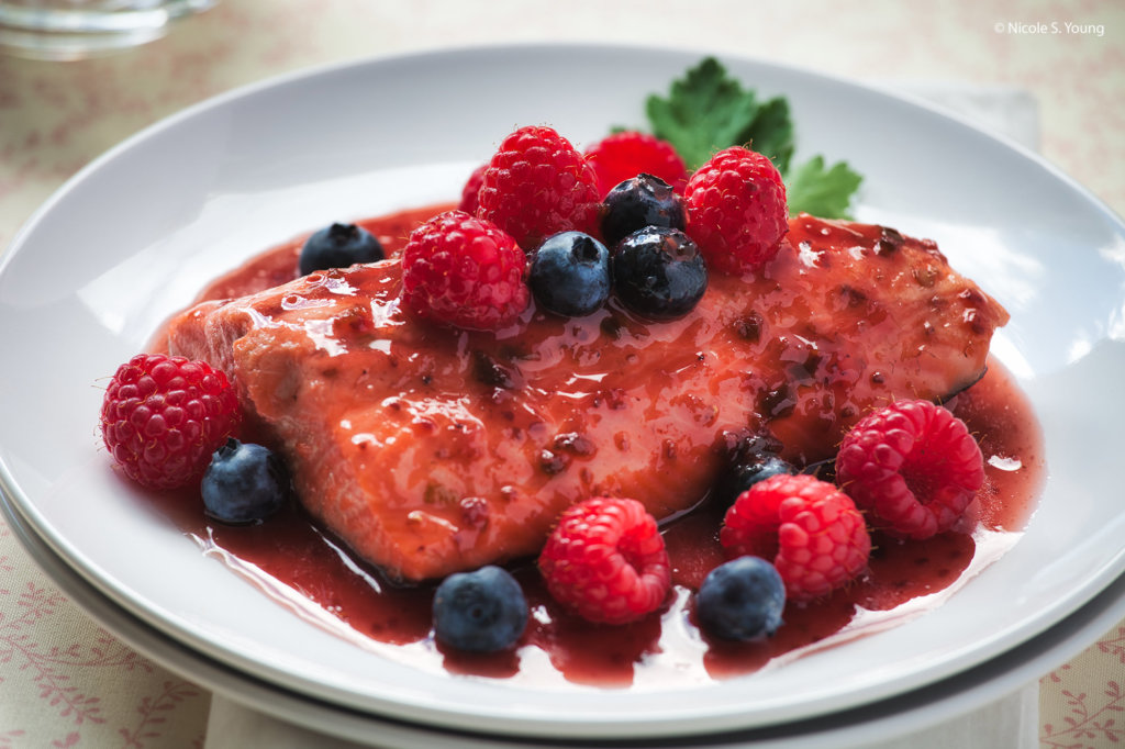 food with berries for creative photography ideas