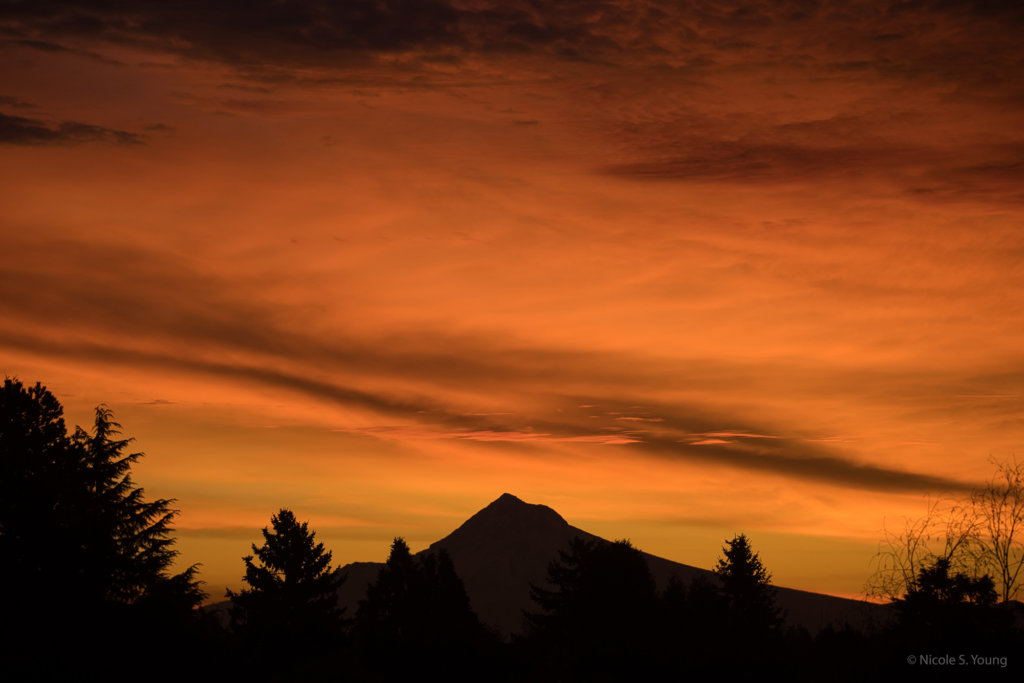 sunset over mt. hood for creative photography ideas before