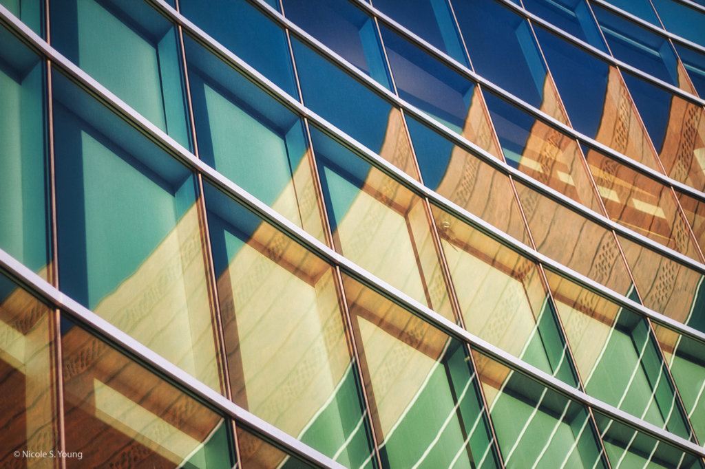 Abstract side of a building for creative photography ideas after