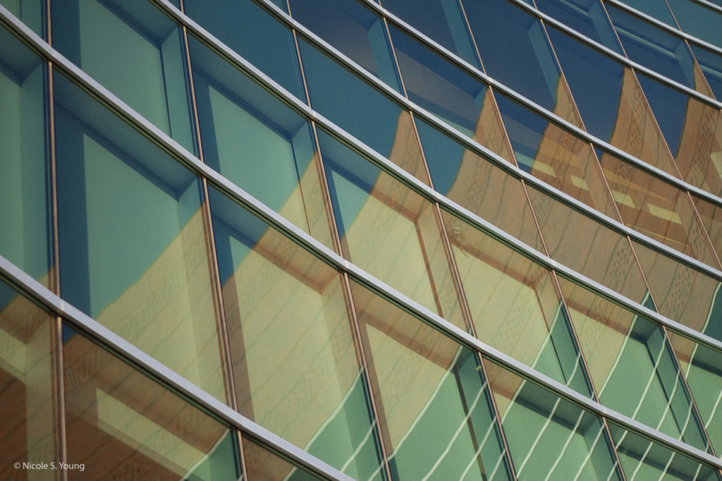 Abstract side of a building for creative photography ideas before