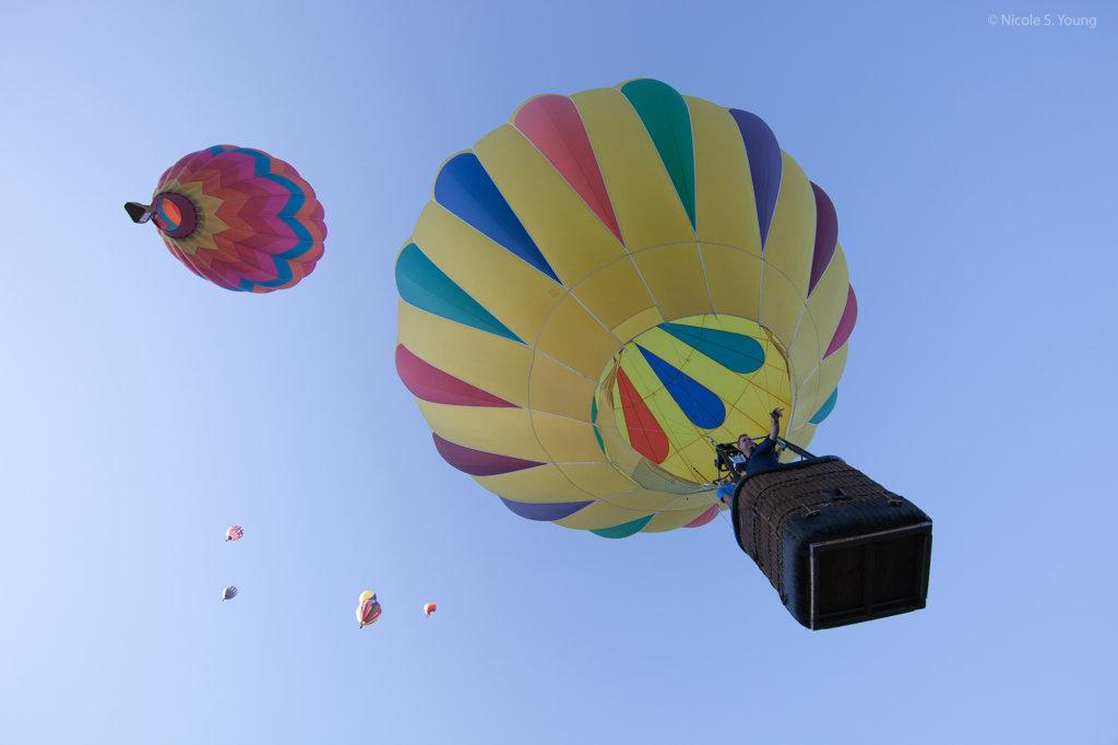 Hot air balloons before