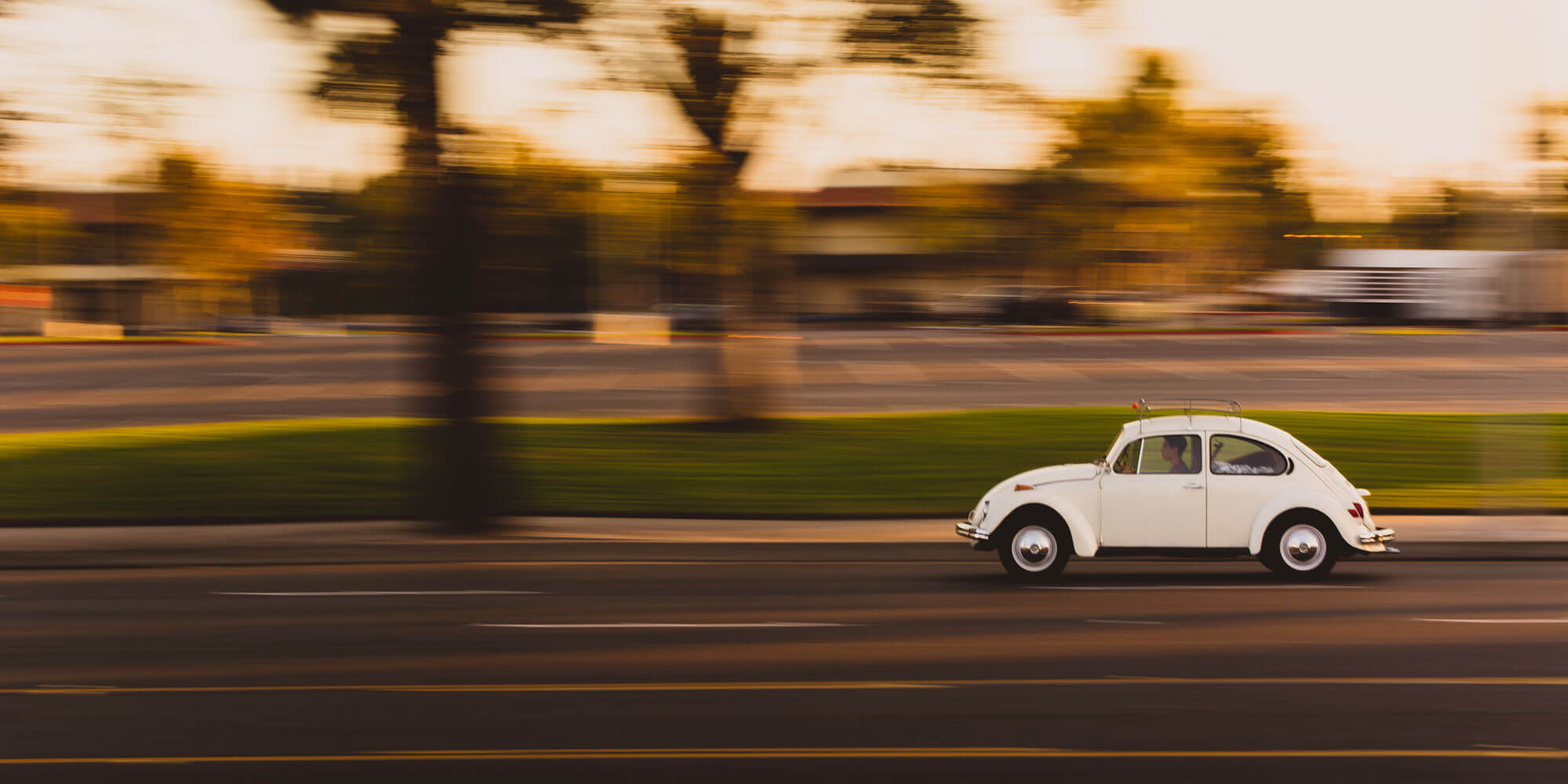 motion blur photography with moving car