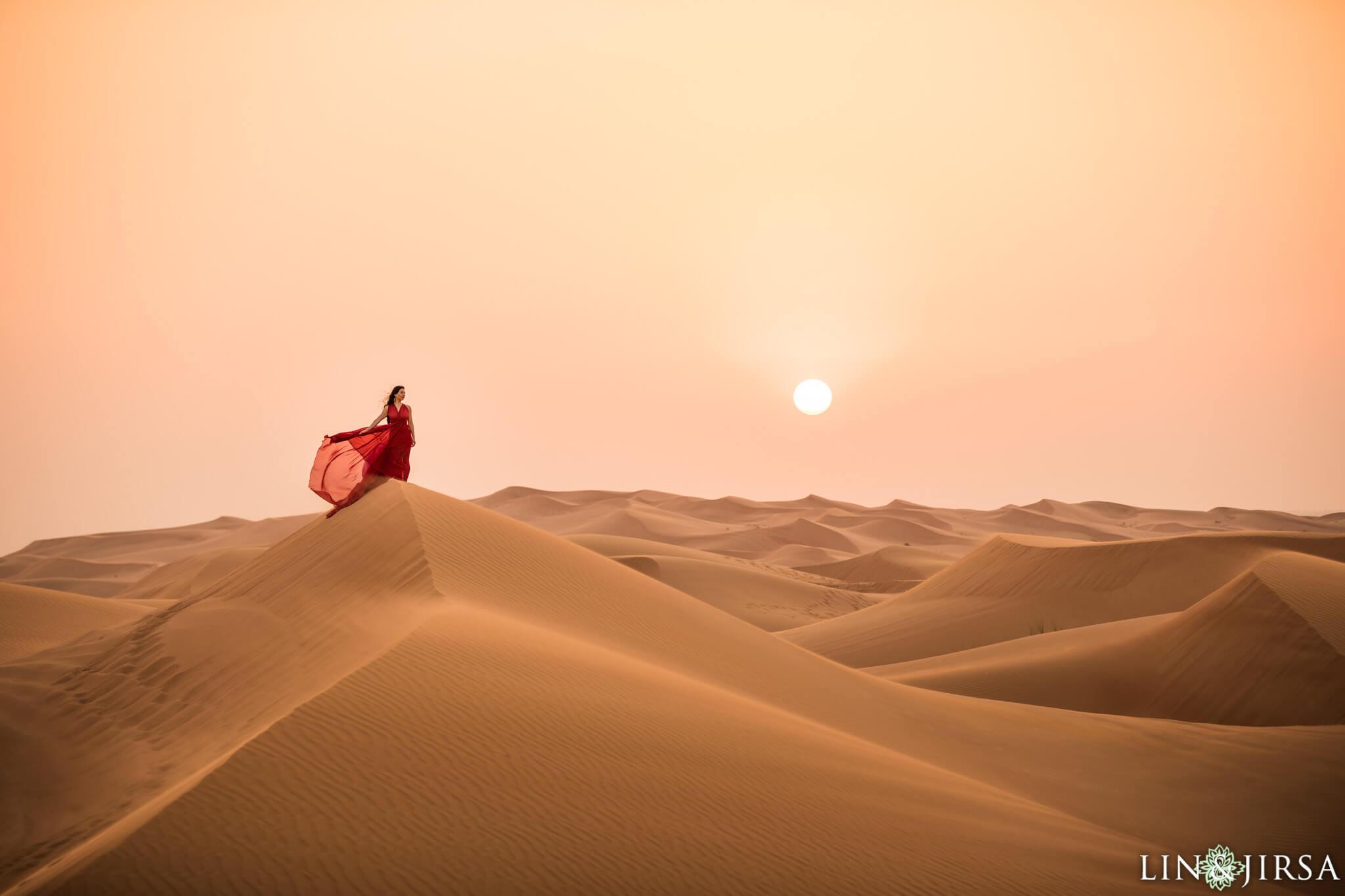 Woman in dress in Dubai
